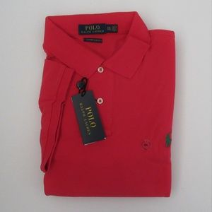 NWT Ralph Lauren Custom Slim Fit Mesh Polo Shirt